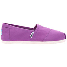Buy TOMS Alpargata Flat Slip On Espadrilles, Purple Online at johnlewis.com