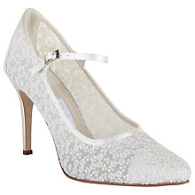 Buy Rainbow Club Adora Stiletto Heeled Court Shoes, Ivory Lace Online at johnlewis.com