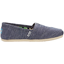 Buy TOMS Alpargata Flat Heeled Slip On Espadrilles, Blue Online at johnlewis.com