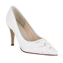 Buy Rainbow Club Ashleigh Stiletto Heeled Court Shoes, Ivory Satin Online at johnlewis.com