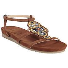 Buy John Lewis Nula Bead Sandals, Brown Online at johnlewis.com