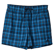 Buy Adidas Check Swim Shorts, Collegiate Navy Online at johnlewis.com