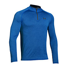 Buy Under Armour Tech 1/4 Zip Long Sleeve Top, Blackout Navy Online at johnlewis.com