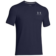 Buy Under Armour Short Sleeve Training Top, Midnight Navy Online at johnlewis.com