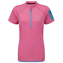 Buy Ronhill Trail Short Sleeve Half Zip Running Top, Rose Online at johnlewis.com