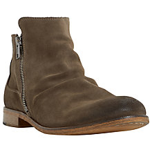 Buy Dune Cinder Double Zip Boots, Taupe Online at johnlewis.com