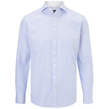 Buy Hackett London Bengal Stripe Shirt, Blue/White Online at johnlewis.com