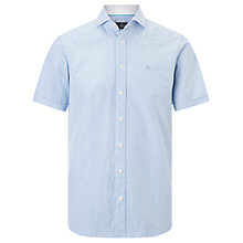 Buy Hackett London Bengal Edge Slim Fit Short Sleeve Shirt, White/Turquoise Online at johnlewis.com