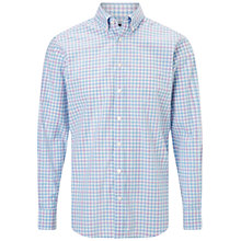 Buy Hackett London Zephyr Multi Check Classic Fit Shirt, Blue Online at johnlewis.com