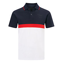 Buy Hackett London Aston Martin Panel Polo Shirt Online at johnlewis.com