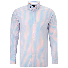 Buy Hackett London Ticker Slim Fit Stripe Oxford Shirt, Red/White Online at johnlewis.com