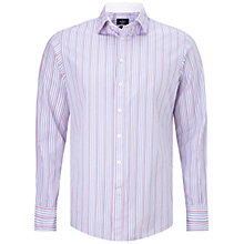 Buy Hackett London Lolly Stripe Shirt, Blue/Pink/White Online at johnlewis.com