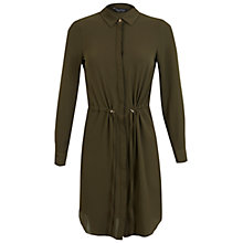 Buy Miss Selfridge Drawstring Shirt Dress, Khaki Online at johnlewis.com