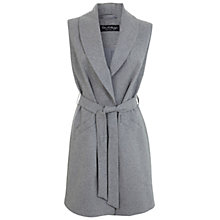 Buy Miss Selfridge Belted Sleeveless Coat, Grey Online at johnlewis.com
