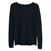 Buy Mango Polka Dot Sweatshirt, Black Online at johnlewis.com