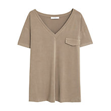 Buy Mango Modal T-Shirt, Beige Online at johnlewis.com