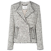 Buy L.K. Bennett Lola Frayed Tweed Jacket, Cream/Black Online at johnlewis.com