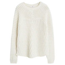 Buy Mango Cable Knit Jumper, Ecru Online at johnlewis.com
