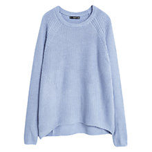 Buy Mango Mixed Knit Sweater, Light-Pastel Blue Online at johnlewis.com