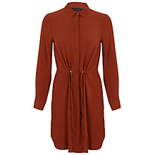 Buy Miss Selfridge Drawstring Shirt Dress, Rust Online at johnlewis.com