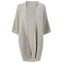 Buy L.K. Bennett Maja Long Knitted Cardigan, Grey Melange Online at johnlewis.com