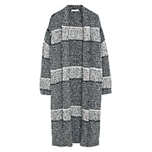 Buy Mango Striped Long Cardigan, Medium Grey Online at johnlewis.com
