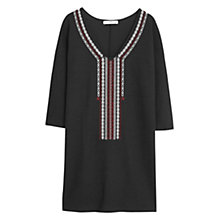 Buy Mango Textured Cotton Dress, Black Online at johnlewis.com