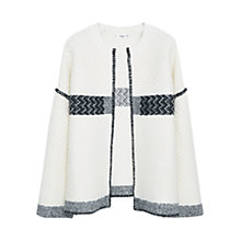 Buy Mango Textured Wool Blend Cardigan, Light Beige Online at johnlewis.com