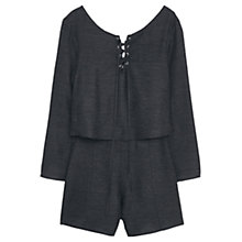 Buy Mango Flared Sleeve Jumpsuit, Charcoal Online at johnlewis.com