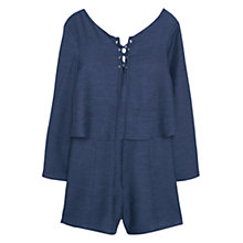 Buy Mango Flared Sleeves Jumpsuit, Navy Online at johnlewis.com