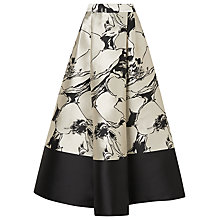 Buy L.K. Bennett Printed Full Midi Skirt, Black/Cream Online at johnlewis.com