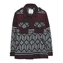Buy Mango Jacquard Jacket, Dark Red Online at johnlewis.com