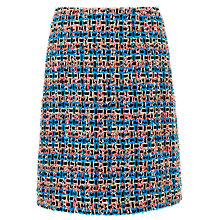 Buy L.K. Bennett Echo Tweed Skirt, Azure Online at johnlewis.com