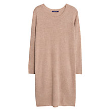 Buy Violeta by Mango Wool-Blend Ponte Dress, Light Beige Online at johnlewis.com