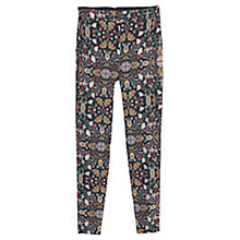 Buy Mango Combi Print Trousers, Black Online at johnlewis.com
