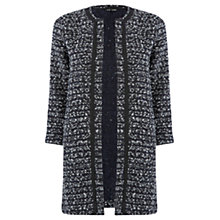 Buy Warehouse Tweedy Long Jacket, Navy Online at johnlewis.com