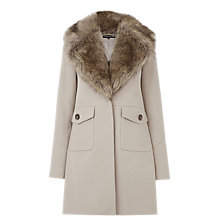 Buy Warehouse Extreme Faux Fur Collar Coat, Camel Online at johnlewis.com