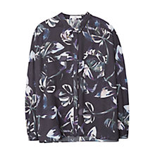 Buy Mango Floral Print Shirt, Navy Online at johnlewis.com