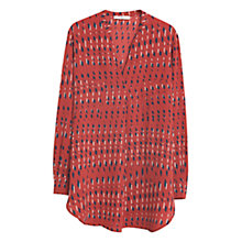 Buy Mango Print Pocket Blouse, Red Online at johnlewis.com