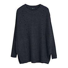 Buy Mango Chunky Knit Jumper, Charcoal Online at johnlewis.com