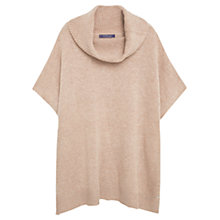 Buy Violeta by Mango Wool-Blend Knit Cape, Light Beige Online at johnlewis.com