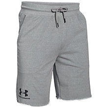 Buy Under Armour Terry Fleece Shorts, Greyhound Heather Online at johnlewis.com