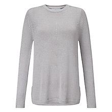 Buy John Lewis Capsule Collection Metallic A-Line Jumper, Silver Online at johnlewis.com