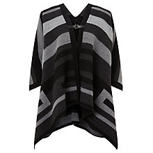 Buy John Lewis Blanket Cape, Black/Grey Online at johnlewis.com