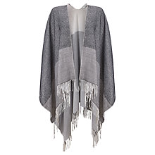 Buy John Lewis Blanket Cape, Silver/Grey Online at johnlewis.com