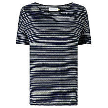 Buy Collection WEEKEND by John Lewis Stripe Linen Top, Navy/White Online at johnlewis.com