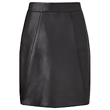 Buy Collection WEEKEND by John Lewis Romy Leather Skirt, Black Online at johnlewis.com