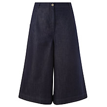 Buy Collection WEEKEND by John Lewis Denim Culottes, Mid Blue Online at johnlewis.com