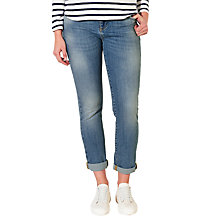 Buy Collection WEEKEND by John Lewis Straight Leg Jeans, Mid Blue Online at johnlewis.com