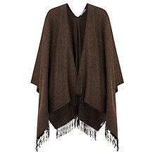 Buy John Lewis Blanket Cape, Chocolate Online at johnlewis.com